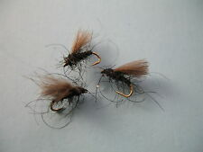 3 x CDC BLACK MIDGE DRY TROUT FLY sizes 10,12,14,16,18  available