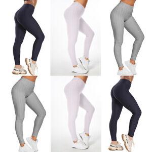 Damen Yoga Hose Anti Cellulite Leggings Fitness Kompression Push Up Hüfte Hosen