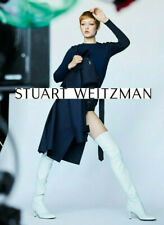 NIB $798 Stuart Weitzman Tiemodel Over-the-Knee Stretch Boots Snow White 11