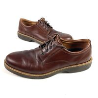 Ecco Oxford Mens Dress Leather Shoes Shock Point Brown Size 45 US 11.5