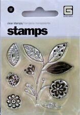 NEW BASIC GREY CLEAR STAMP LEAF BRANCH FLOWER LADY BUG STA-1765 141