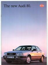 Audi 80 Saloon 1992-93 UK Market Brochure 2.0 2.0E 16v 2.6E 2.8E Quattro TD TDi