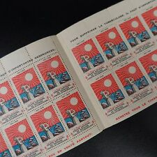 1927/1928 CARNET COMPLET TIMBRE ANTITUBERCULEUX NEUF ** MNH