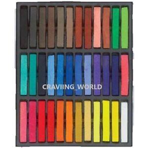 36 Colors Temporary Hair Chalk Set - Non-Toxic Rainbow Colored Dye Pastel Kit
