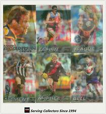 2005 Herald Sun AFL Trading Cards 2-D Best & Fairest Card Full Set (16)-RARE