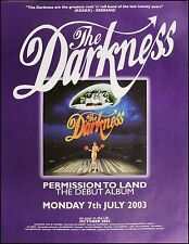 Original Darkness poster - Permission to Land