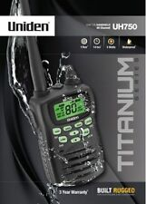 UNIDEN UH750 HANDHELD UHF CB RADIO 80 CH 5W WATT ** BONUS HEADSET $59 VALUE ***