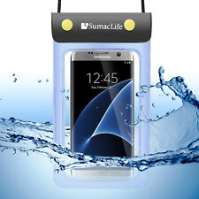 """5.5"""" Blue Cellphone Waterproof Pouch Underwater Dry Bag Case For iphone7 Plus"""