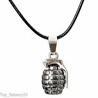 Halskette Herrenkette Handgranate Anhänger Schmuck Army Militär  NEU