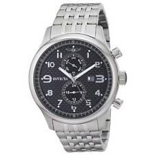 Invicta 0369 Specialty Men's Black Dial Steel Bracelet Watch