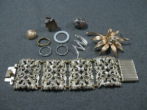 Vintage junk jewelry pieces for spare parts jewelry crafts making as is  #71b