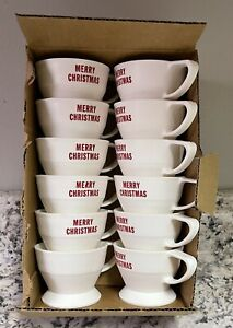"""Box of 12 Vintage SOLO COZY CUP HOLDERS """"MERRY CHRISTMAS""""  NEW!!"""