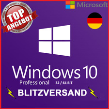 Microsoft Windows 10 Professional ✔ PRO VOLLVERSION ✔ MS® Windows ✔ LIZENZ KEY✔