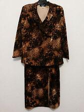 Russell Kemp Womens Suit Size 18 Animal Print Blazer Jacket & Long Stretch Skirt