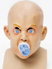 Adults Big Baby & Dummy Mask Halloween Fancy Dress Accessory Stag Night Hen