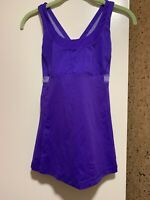 NWOT Lululemon Push Your Limits  Sz 4 Purple Tank Top