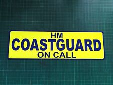 HM COASTGUARD ON CALL Magnet Crew RNLI Emergency Coastguard Car LIFEBOAT 300mm