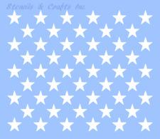 """1.25"""" STAR STENCIL """"50 STARS"""" BIG TEMPLATE PATRIOTIC FLAG PAINT NEW 10.5"""" x 12"""""""