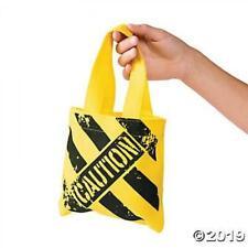 Fun Express - Mini Construction Zone Tote Bags for Birthday - Apparel Accessori