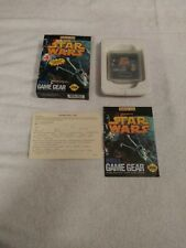 SEGA GAME GEAR STAR WARS GAME COMPLETE IN BOX WITH REPLY CARD U.S.GOLD 1993