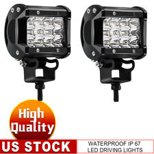 "2X 4"" 36W Tri-Row LED Pods Light Bar Spot Offroad Front Grille Fog Light For ATV"
