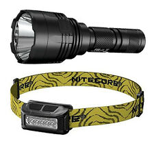 Nitecore P30 XP-L HI V3 LED Flashlight -1000Lm & NU10 Rechargeable Headlamp