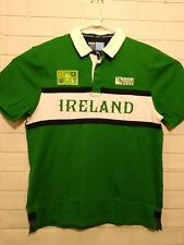 New License Ireland Rugby World Cup 2015 Shirt Jersey Adult S Green Polo Nwt