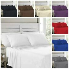 4 Piece Bed Sheet Set Deep Pocket Hotel Bed Sheets Single/Double/Queen/King Size