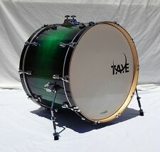 New Taye Drums StudioMaple 24x18 Bass Drum In Green To Black Burst Finish