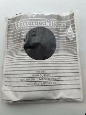 Patterned 15 denier sheer black nylon tights One size