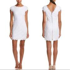 BNWT DVF Diane Von Furstenberg White Lace Barbara Dress US 4 UK 8