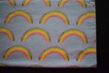 Baby's rainbow flannelette swaddle wrap - handmade