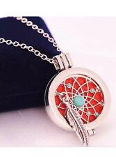 Essential Oil Diffuser Aromatherapy Pendant Necklace Dream Catcher Locket Bag