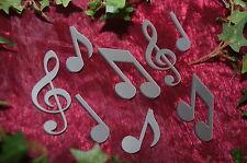 Notenschlüssel Violinschlüssel Tischdeko Dekoration Musik Noten Acryl silber 8St