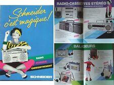 SCHNEIDER AUDIO BROCHURE (1983) BOOMBOXES WALKMAN