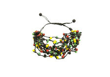 Bracelet Rasta Jamaica Bob Marley Thread Braided Adjustable 870