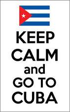 Mantener la calma y vaya a Cuba-Cuba / Caribe temática pegatina de vinilo de 14,5 Cm X 20 Cm