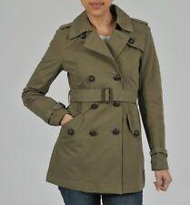 NEW Buffalo Women's Double Breast Belt Trench Cotton Coat Jacket-Spring Khaki-M