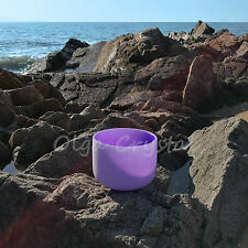 8 Inch B Crown Purple Quartz Crystal Singing Bowl Chakra