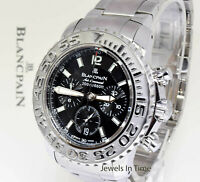 Blancpain 50 Fathoms Air Command Mens Watch Stainless Box/Papers 2285F-1130-71
