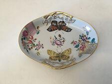 Vista Alegre Portugal for Mottahedeh Porcelain Lowestoft Rose Dish Butterflies