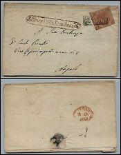 NAPOLI - 2 grana(5) su involucro S.Angelo di Lombardi->Napoli 11.1.1859
