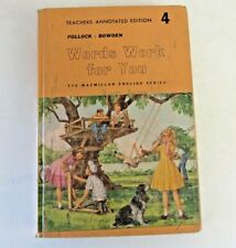 Words Work For You 4 Annotated Teacher Edition Hardcover 1960s  #3003