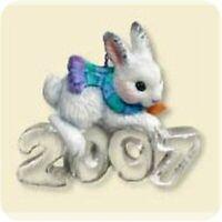 Cool Decade 2007 Hallmark Series Ornament #8 White Rabbit Snow Bunny Carrot Ice