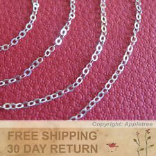 Sterling Silver Chain 2mm 6FT Italian cable chain sold in bulk making necklace