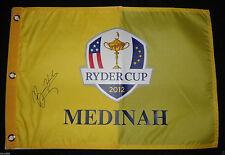 BEAU HOSSLER SIGNED 2012 RYDER CUP FLAG JUNIOR MEDINAH TEAM USA PROOF COA J1