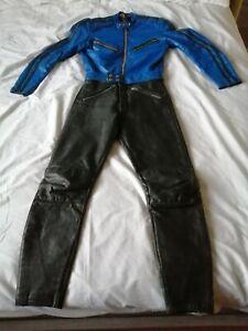 Vintage TT motorcycle racing leathers
