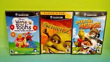 Disney Winnie the Pooh, Over Hedge, Shrek 2 - Nintendo GameCube Tested Game Lot