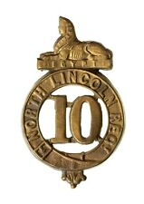 More details for 10th north lincolnshire glengarry badge brass metal