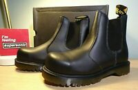 Unisex Dr Martens Black Vegan Leather Winter Chelsea Boots Size 6 New in Box